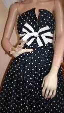 "Vintage 1987 VICTOR COSTA Navy/White Polka Dot Dress ""Broadcast News"" Size 4-6"