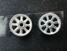 2 Dollhouse Miniature Unfinished Metal Wheel #2 - 1/2""
