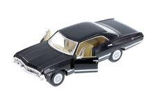 """1:43 Black 1967 Chevy Impala 5"""" Kinsmart Die-cast Car Brand New No Box"""