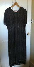 Monsoon Dress Brown with White Stripes Size 16 Long