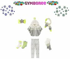 "Gymboree Girls ""Cozy Ski Lodge"" Holiday 6 Pc Set Sweater/legging/scarf Age (4-6)"