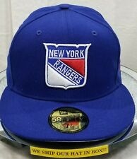 NEW YORK RANGERS~NHL~NEW ERA~59FIFTY~OFFICIAL LICENSED PRODUCT~ROYAL