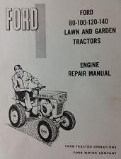 Ford Lawn Garden Tractor 80 100 120 140 Engine Motor Service Manual Kohler K321