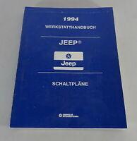 Workshop Manual Electric Schematics Jeep Cherokee XJ /Wranlger Yj Stand 1994