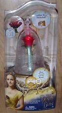 La Bella y la Bestia Rosa Encantada Alhajero Sonido Luces-para arriba con anillo