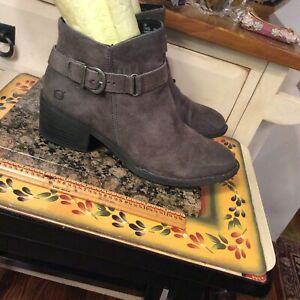 Born FO8322 Women's  Taupe distressed Leather Ankle Boots Size 9M
