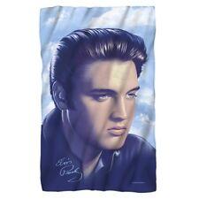 New 36x58 Elvis Presley Blue Fleece Throw Gift Blanket Photo Portrait Rock Music