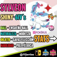 Sylveon Competitivo Súper Shiny/Variocolor 6IV´s Pokemon Espada-Escudo Pokérus