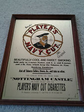 PLAYER'S NAVY CUT TOBACCO vintage 12 x 16 FRAMED ADVERTISING MIRROR from estate!