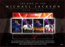 Tuvalu - Michael Jackson in Memoriam 1958 - 2009 Sheet of 4 Stamps (#2) MNH