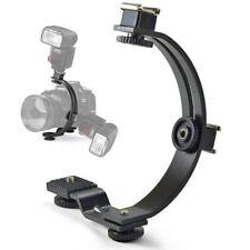 C Shape Mount Hot Shoe Flash Bracket for LED Video DSLR SLR Camera Camcorder
