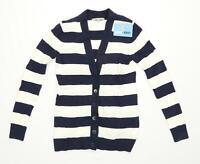 Gap Womens Size XS Striped Blue Cardigan (Regular)