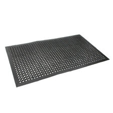 "Anti-Fatigue Floor Mat 36"" x 60"" Indoor Cushion Heavy Duty Use Black Color"