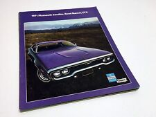 1971 Plymouth Satellite Road Runner GTX Brochure