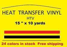 "Heat Transfer vinyl Gold 15 "" x 10 yards  new Material HTV Free Shipping"