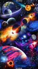 """23"""" Fabric Panel - Timeless Treasures Space Solar System Planet Wallhanging"""