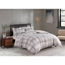 Corbin Plaid to Sherpa Comforter Set 2pk | Gray/White | Twin XL 🆕