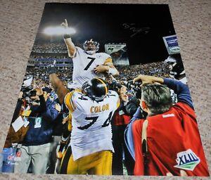 Ben Roethlisberger autographed 16x20 photograph Pittsburgh Steelers ! SB XLIII