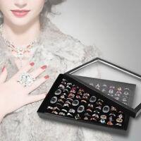 100 Grids Ring Display Box Jewelry Tray Case Holder Storage Organizer Sanwood