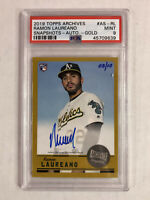 RAMON LAUREANO 2019 Topps Archives GOLD SP RC AUTO 08/10! PSA MINT 9! SUPER RARE