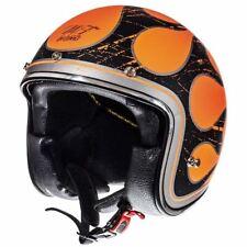 Casco MT Le Mans Flames Fiamme Helmet Black Orange New taglia M,L