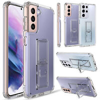 For Samsung Galaxy S21/Plus/Ultra 5G Case Clear Shockproof Stand Hard Full Cover