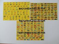 3 X Poster Matchbox Lesney Superfast Repro  Type D, F and G Boxes Series models.