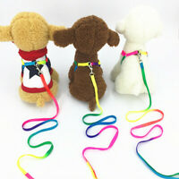 Einstellbar Kleinen Hund Harness Kragen mit Blei Leine Strap Niedrige V8Z4 M4R