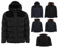 NEW BOYS KIDS PADDED QUILTED HOODED BLACK NAVY SCHOOL COAT AGE 7 8 9 10 11 12 13