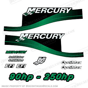 Mercury Custom Color Green Decal Kit, 90,115,125,135,140,150,175,200,225,250