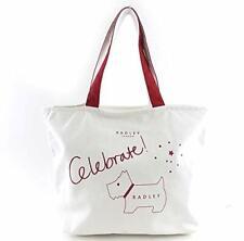 Radley London Celebrate White Red Canvas Top Zip Tote Handbag