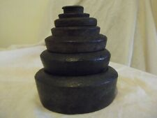 antique Cast iron disc weights