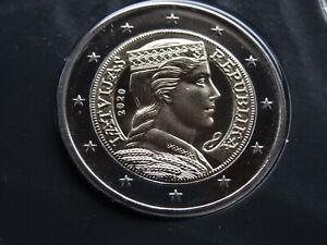 Lettland 2 Euro Kursmünze 2020 BU aus original KMS nur 7000 Stück Kursmünzensatz