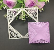 Hot DIY Metal Flower Square Cutting Dies Scrapbook Card Paper Embossing Stencil
