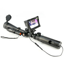 4.3″ LCD Display Night Vision Scope Lens Add on Rifle Scope IR Torch Mount