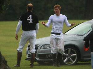 Prince Harry and Prince William UNSIGNED photo - D349