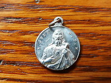 ANTIQUE aluminium RELIGIOUS MEDAL ST JUDE WITH STICK LAWYER DESESPERATES CAUSES