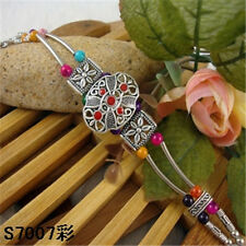 New HOT Free shipping Tibet silver multicolor jade turquoise bead bracelet S77