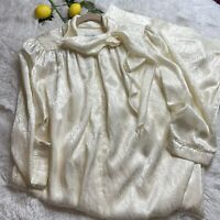 Vintage Christian Dior Long Nightgown Lingerie Shoulder Pads Size Small