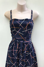 "PRINCESS HIGHWAY Vintage Style ""Miranda Dress"" Navy Blue Viscose sz8 NWT Rrp $98"