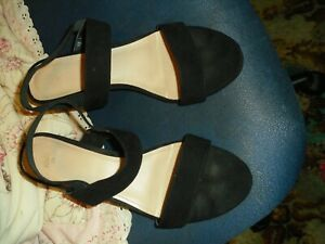 ladies sandals black from H&M size 6