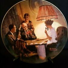 """Norman Rockwell Collector Plate """"This Is The Room That Light Made"""" #12914F"""