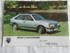 Avon Ogle Vauxhall Astra brochure c1980's