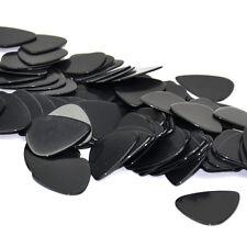 Lots of 100pcs 1mm Heavy Gauge Guitar Picks Plectrums Celluloid Solid Black New