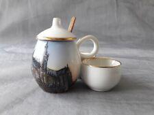 Moutardier sel poivre porcelaine Dadat Limoges collection Cathédrale de Metz