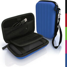 Blue Hard Case Cover Pouch for Portable External Hard Drive 142 x 80.6 x 21.6mm