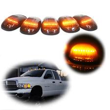 5pcs Cab Marker roof lights Smoke/Amber Led For 2003-2016 Dodge Ram 2500 3500