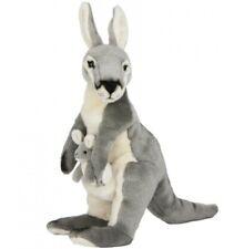 Grey Kangaroo and Joey Plush Toy Trudy Medium 16 Inches / 40cm Bocchetta Plu