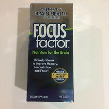 Focus Factor Nutrition for Brain Brain Health Supplement 90 ct EXP 2023
