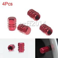 4 PCS Hexagonal Tyre Wheel Ventil Valve Cap For Auto Car Truck New Red